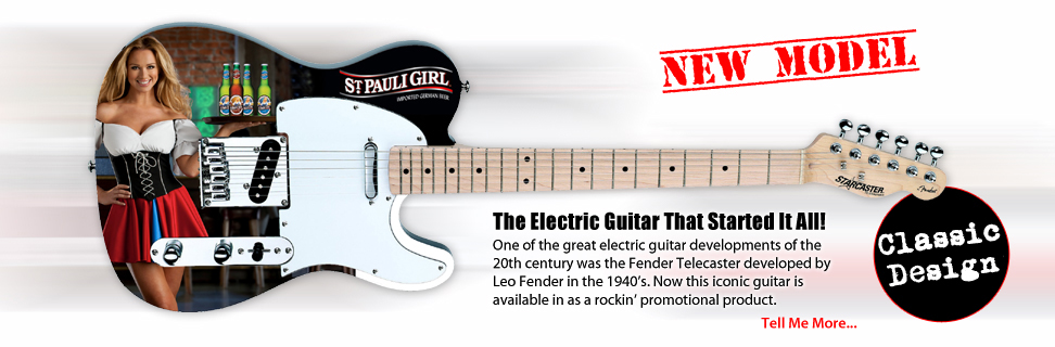 Promotional Telecaster by Fender Guitar. When you wanna ROCK!